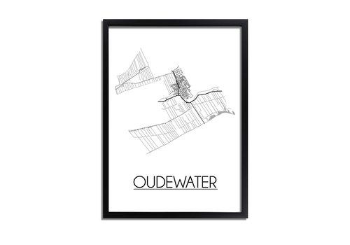 DesignClaud Oudewater Plattegrond poster