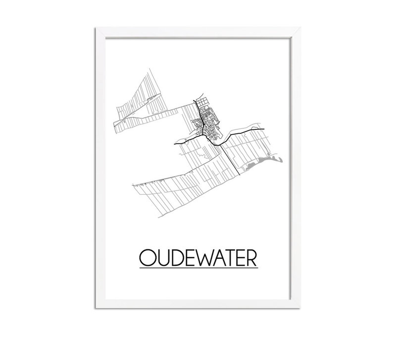 Oudewater Plattegrond poster