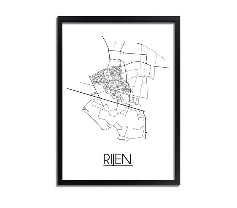 Rijen Plattegrond poster