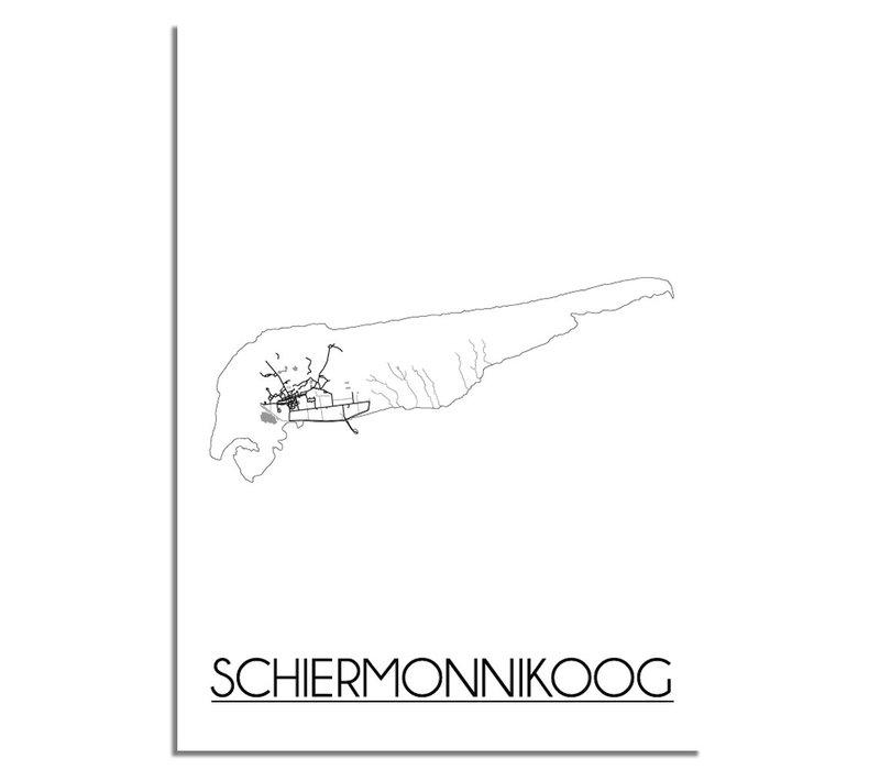 Schiermonnikoog Plattegrond poster