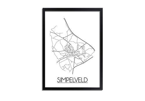 DesignClaud Simpelveld Plattegrond poster