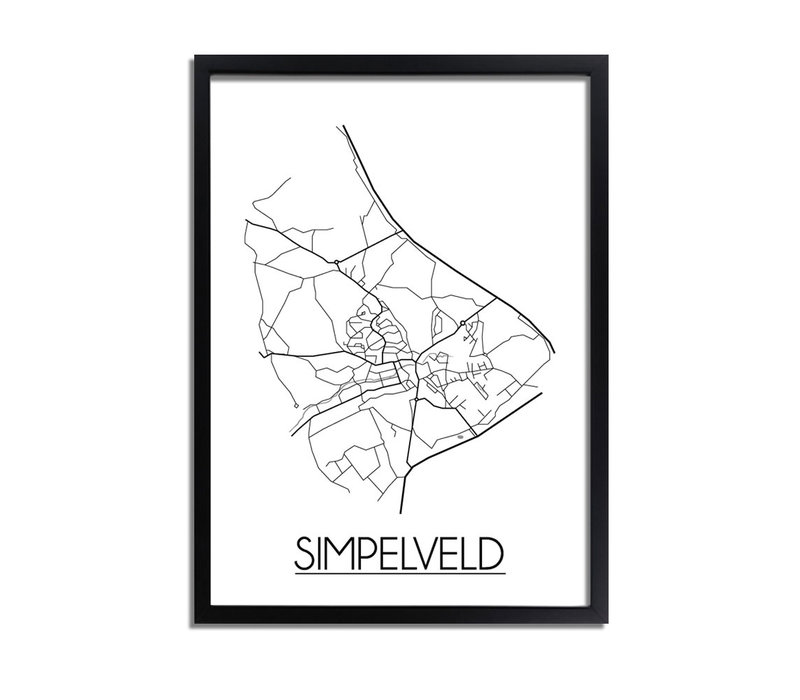 Simpelveld Plattegrond poster