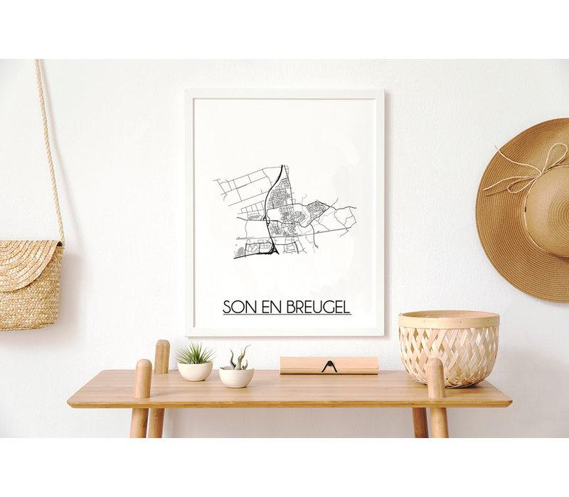 Son en Breugel Plattegrond poster