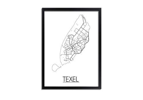 DesignClaud Texel Plattegrond poster