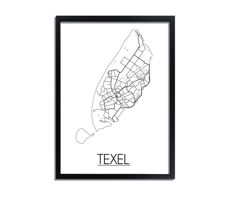 Texel Plattegrond poster