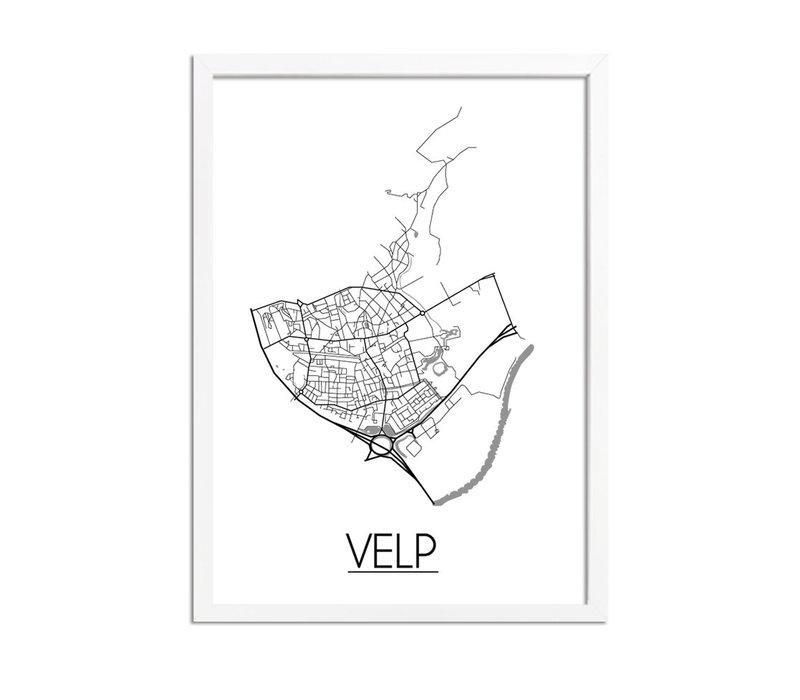 Velp Plattegrond poster