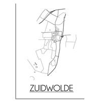 Zuidwolde Plattegrond poster