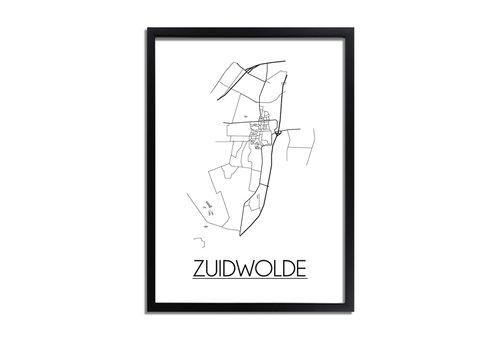 DesignClaud Zuidwolde Plattegrond poster