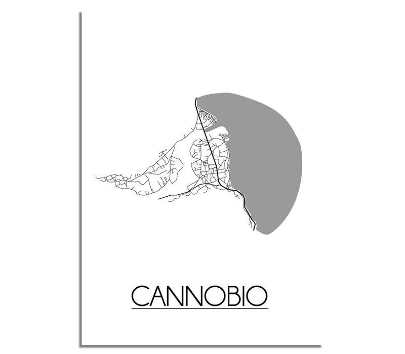 Cannobio Italië Plattegrond poster