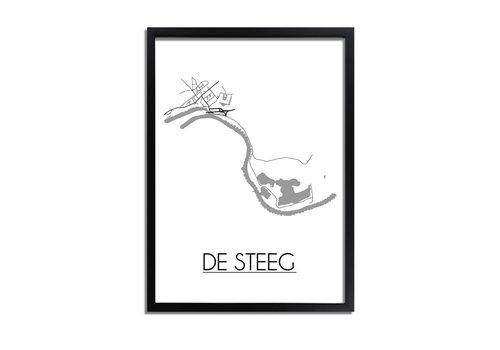 DesignClaud De Steeg Plattegrond poster