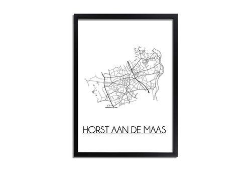 DesignClaud Horst aan de Maas Plattegrond poster