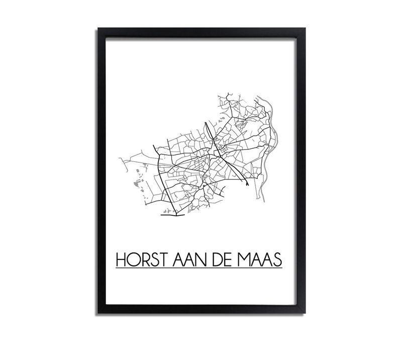 Horst aan de Maas Plattegrond poster
