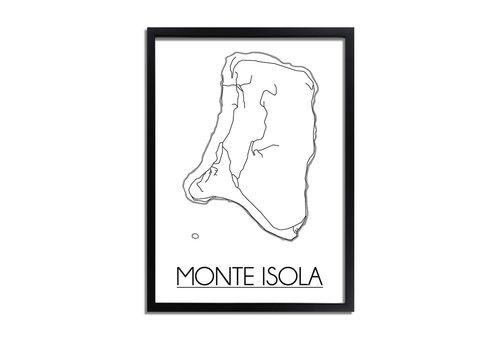 DesignClaud Monte Isola Italië Plattegrond poster