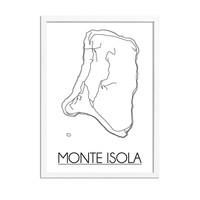 Monte Isola Italië Plattegrond poster