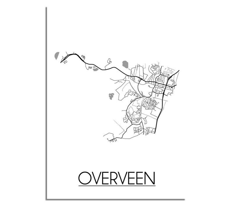 Overveen Plattegrond poster