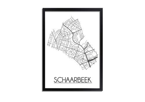 DesignClaud Schaarbeek Plattegrond poster