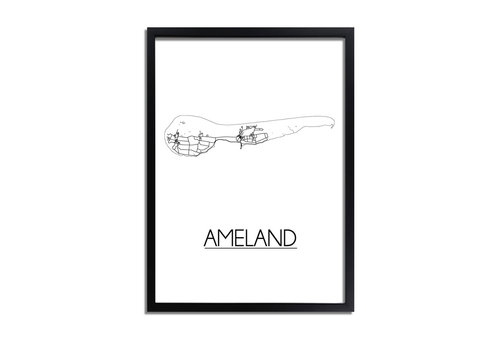 DesignClaud Ameland Plattegrond poster
