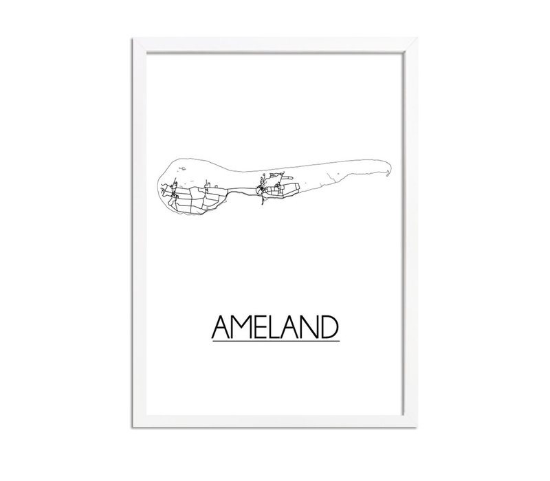 Ameland Plattegrond poster