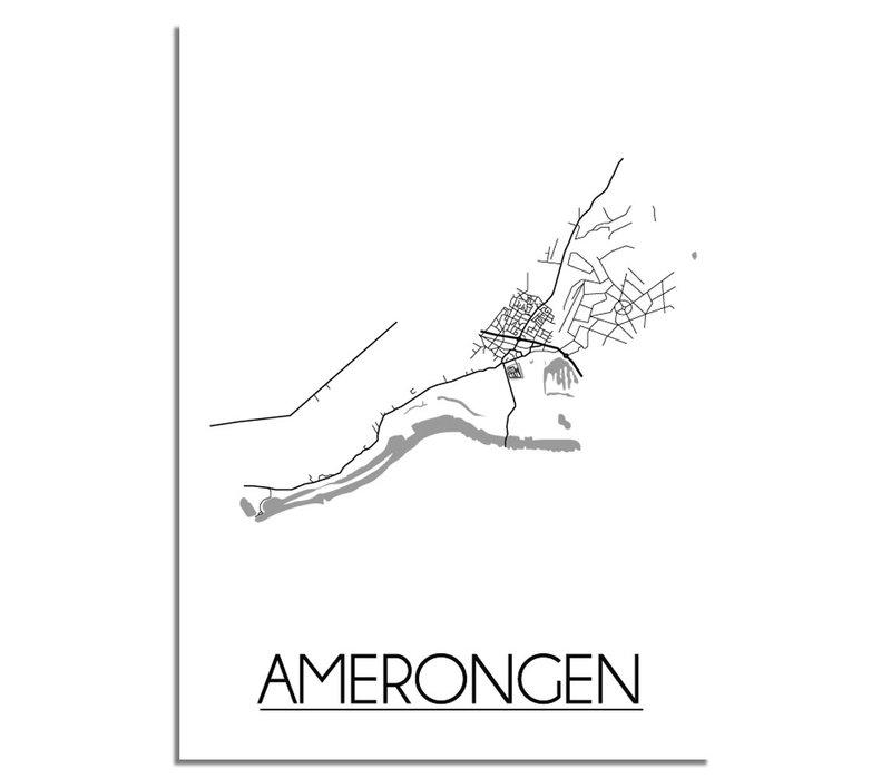 Amerongen Plattegrond poster
