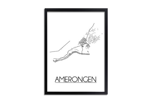 DesignClaud Amerongen Plattegrond poster
