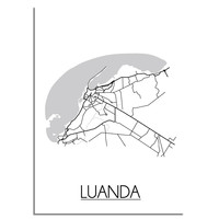 Luanda Angola Plattegrond poster