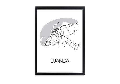DesignClaud Luanda Angola Plattegrond poster