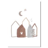 Kerstposter Merry Christmas 'Onze eerste kerst samen' Goudfolie