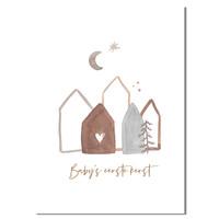 Kerstposter zelf maken: met persoonlijke tekst Goudfolie
