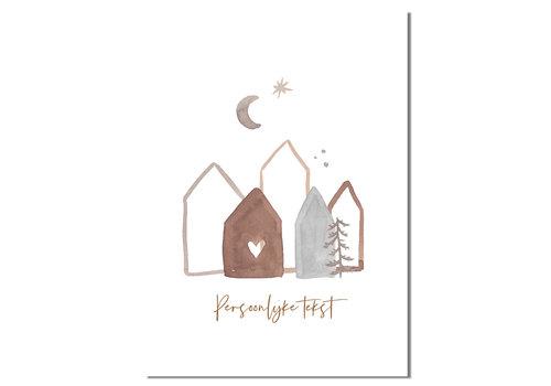 DesignClaud Kerstposter zelf maken: met persoonlijke tekst Goudfolie