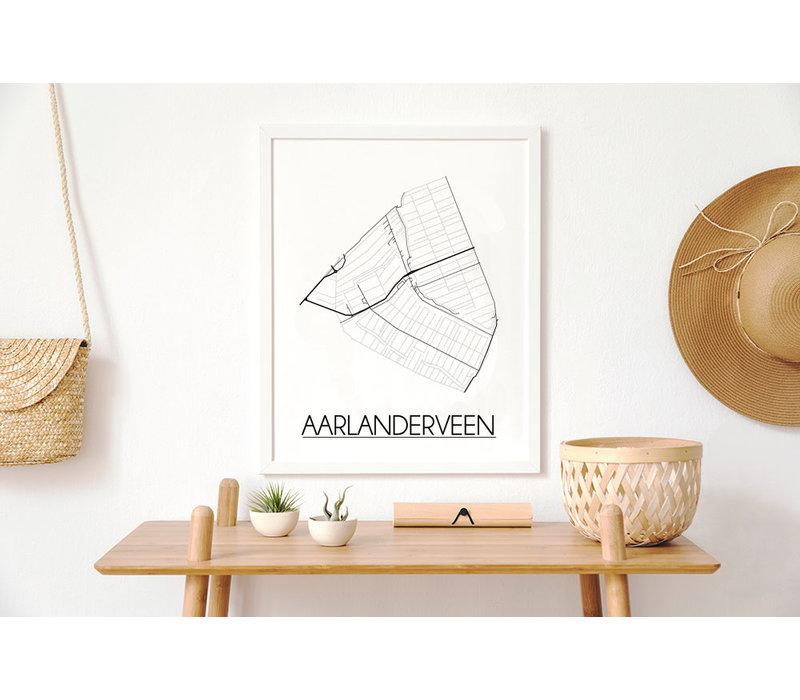 Aarlanderveen Plattegrond poster