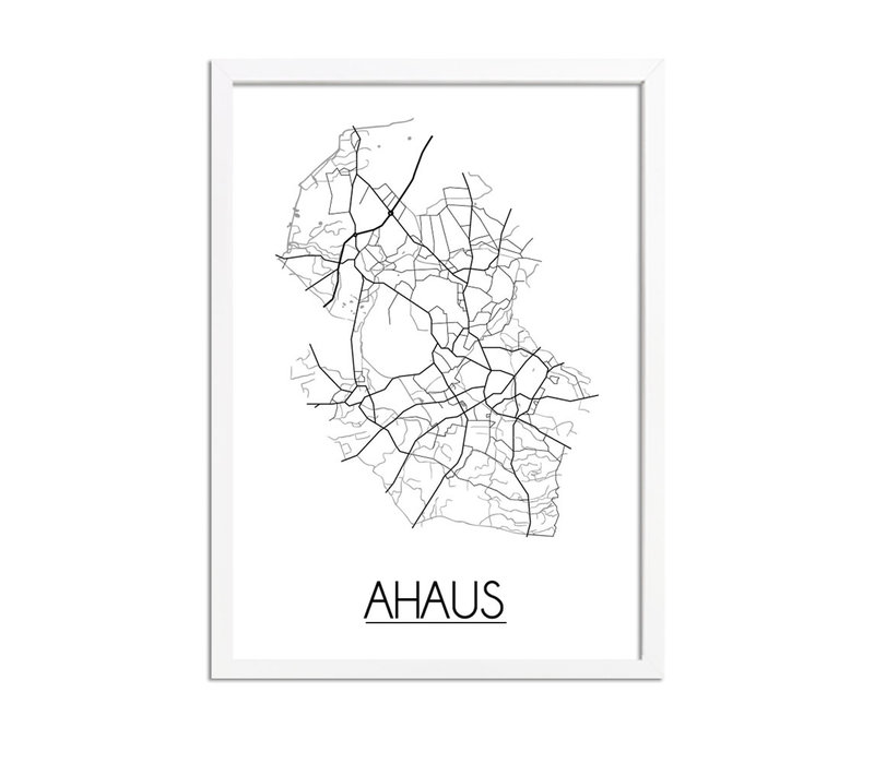 Ahaus Plattegrond poster