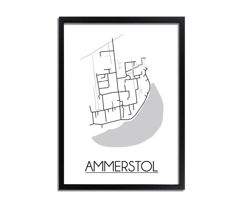 Ammerstol Plattegrond poster