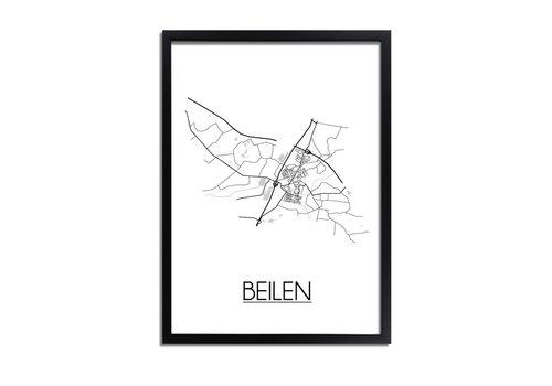 DesignClaud Beilen Plattegrond poster