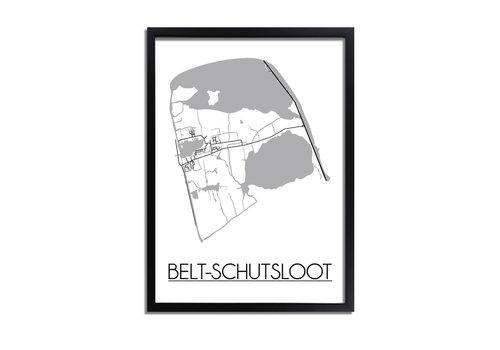DesignClaud Belt-Schutsloot Plattegrond poster