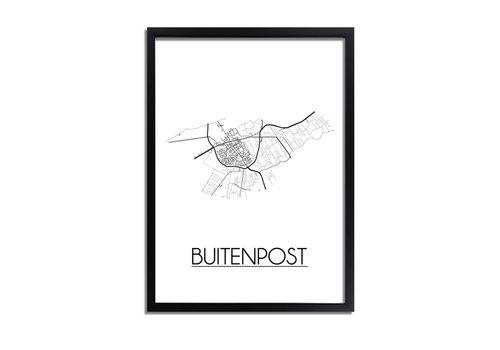 DesignClaud Buitenpost Plattegrond poster