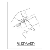 Burdaard Plattegrond poster
