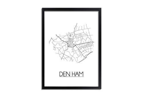 DesignClaud Den Ham Plattegrond poster