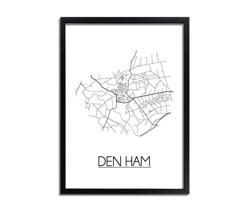 Den Ham Plattegrond poster