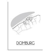 Domburg Plattegrond poster