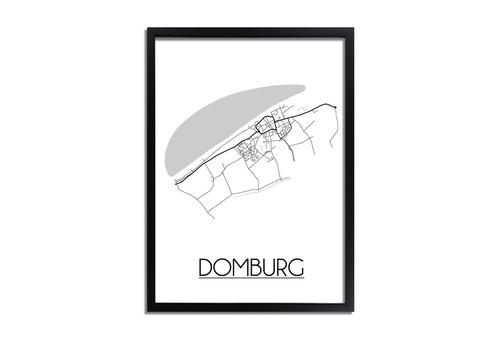 DesignClaud Domburg Plattegrond poster