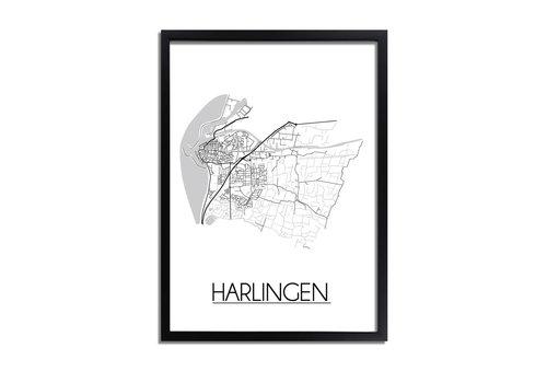 DesignClaud Harlingen Plattegrond poster