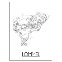 Lommel Plattegrond poster