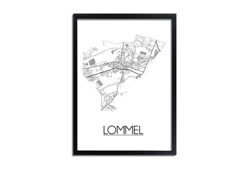 DesignClaud Lommel Plattegrond poster