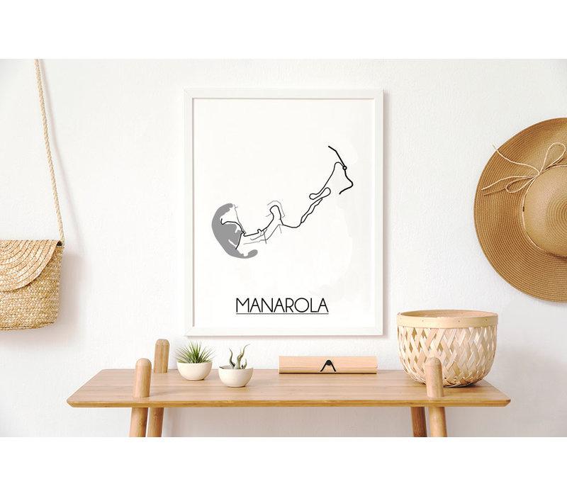 Manarola Plattegrond poster