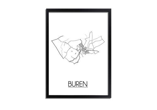 DesignClaud Buren Plattegrond poster