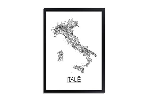 DesignClaud Italië Landkaart Plattegrond poster