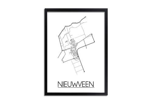 DesignClaud Nieuwveen Plattegrond poster