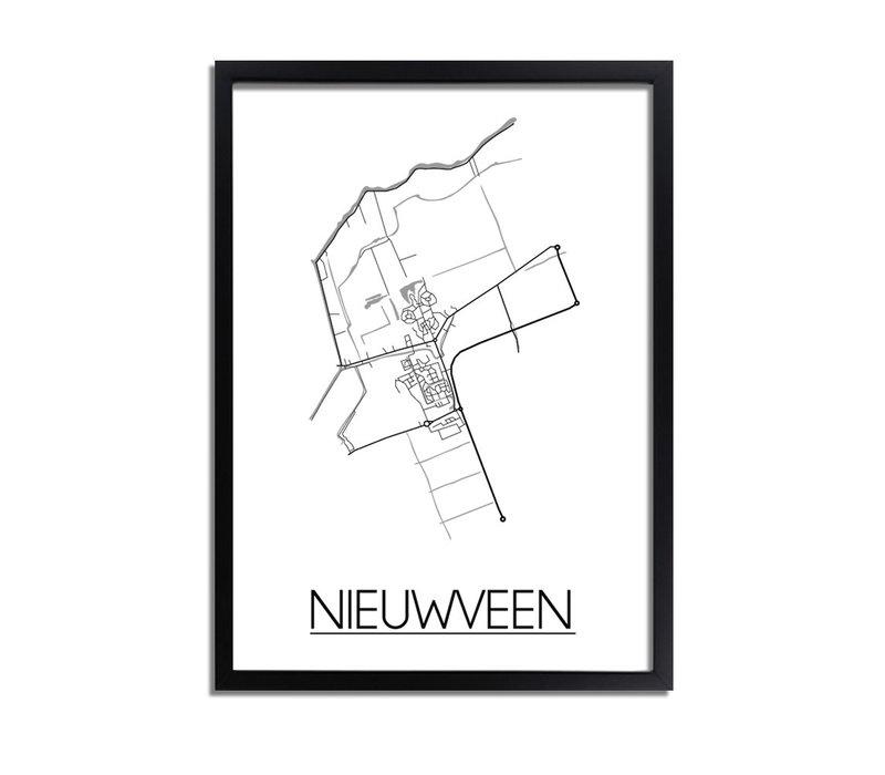 Nieuwveen Plattegrond poster