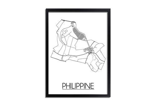 DesignClaud Philippine Plattegrond poster