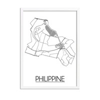 Philippine Plattegrond poster